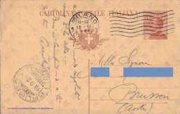 """INTERO POSTALE TIPO MICHETTI 1923 C. 30 - FILAGRANO """"C53"""" MILLESIMO 23 - DA: MILANO A: BRUSSON (TO) - 16.09.1924 - Interi Postali"""