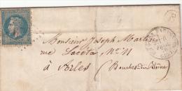 DROME 1870 LETTRE, GC 671 BUIS LES MARONNIES, FACTEUR C Ste EUPHEMIE SUR OUVEZE /2047 - Postmark Collection (Covers)