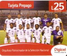TARJETA DE HONDURAS DE 25 LEMPIRAS  SELECCION DE FUTBOL DE HONDURAS (DIGICEL) - Honduras