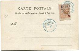 OBOCK CARTE POSTALE AFFRANCHIE AVEC LE N°53a DEPART DJIBOUTI 16 NOV 01 - Lettres & Documents