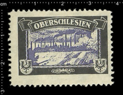 Old German Poster Stamp (cinderella Reklamemarke) Former Colonies Kolonien Deutsche Gebiete Oberschlesien - Cinderellas
