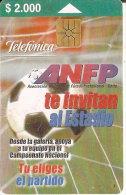 TARJETA DE CHILE DE FUTBOL  (FOOTBALL) - Chile