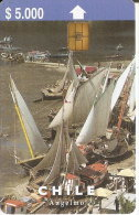 TARJETA DE CHILE DE EL PUERTO DE ANGELMO  (BARCO-SHIP-VELERO) - Chile