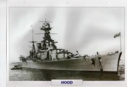GB Croiseur De Bataille HOOD,   édit.ATLAS, 24cmsx15.5cms, Au Dos Renseignements  Divers (b15) - Boten