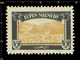 German Poster Stamp (cinderella Reklamemarke)Former Colonies Kolonien Deutsche Gebiete Colony Eupen Malmedy - Erinnophilie