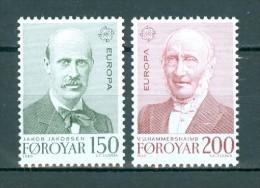 FÄRÖER - INSELN - Mi-Nr. 53 - 54 Europa: Bedeutende Persönlichkeiten Postfrisch - Färöer Inseln