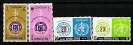 IRAQ IRAK 1968 20th Anniversary Of World Health Organization SC# 479 - 482 MNH - Iraq