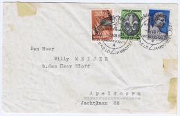 Netherlands: 1937 NVPH 293-295 Cancel Bloemendaal Vogelzang Wereld Jamboree NWOZ