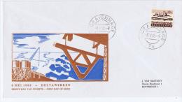 Netherlands: 1963 Geillustreerde FDc Delta Werken  Nr 794 - FDC