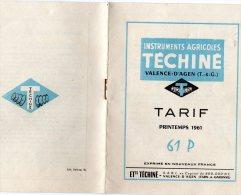 INSTRUMENTS AGRICOLES) MOTOCULTURE FEVRIER 1959 -TRACTION ANIMALE  Ou TRACTEUR  -6 Pages RV - Traktoren