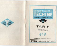 INSTRUMENTS AGRICOLES) MOTOCULTURE FEVRIER 1959 -TRACTION ANIMALE  Ou TRACTEUR  -6 Pages RV - Tracteurs
