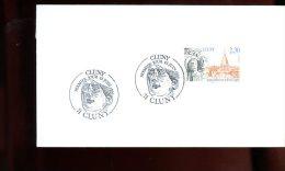 Enveloppe Premier Jour 1er Fdc Fabriquée 16X9 Cluny 1990 - FDC