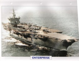 USA 1960, Porte-avions Nucléaire ENTERPRISE,  édit.ATLAS, 24cmsx15.5cms, Au Dos Renseignements  Divers (b15) - Barche