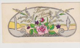 MIGNONETTE BONNE ANNEE . BOUQUET DE ROSE ET MIMOSA . STYLE ART DECO - Nieuwjaar