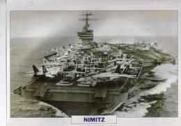 USA 1972   Porte-avions Nucléaire  NIMITZ,  édit.ATLAS, 24cmsx15.5cms, Au Dos Renseignements  Divers (b15) - Barche