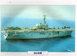 USA 1964   Bâtiment Amphibie GUAM,  édit.ATLAS, 24cmsx15.5cms, Au Dos Renseignements  Divers (b15) - Bateaux