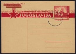 1945 Yugoslavia Croatia NDH - ZAGREB Provisory Overprint - STATIONERY - POSTCARD - MNH - Ganzsachen