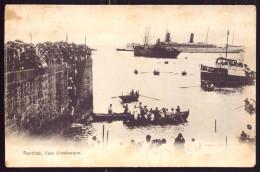 ILHA DA MADEIRA / FUNCHAL/ PORTUGAL Postal Cais De Desembarque 1900. Barcos. Navio. Muito Animado. Old Postcard - Madeira