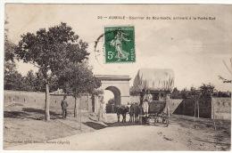 CARTE POSTALE Algérie Aumale Courrier De Bou-Saada Arrivant à La Porte Sud - Algérie