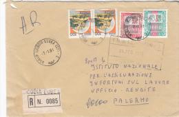 LETTRE  Recomandé Italie 1991  LICODIA /3006 - 6. 1946-.. Repubblica