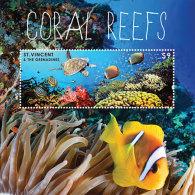 St. Vincent & The Grenadines-2013-Marine Life-CORAL REEF-Turtles - Marine Life
