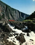 (1000) Norway - Mäbødalen Valley With Bus And Waterfall - Norway