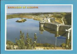 BARRAGEM DE ALQUEVA - VISTA PARCIAL DO PAREDÃO - ALENTEJO - PORTUGAL - 2 SCANS - Evora