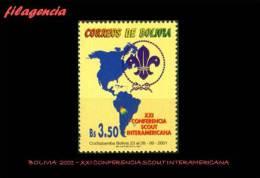 AMERICA. BOLIVIA MINT. 2001 XXI CONFERENCIA SCOUT INTERAMERICANA - Bolivië