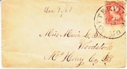 U.S. COVER  OTTERVILLE,  MO.  1861 - Covers & Documents