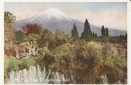 Oriental Steam Ship Co. C1910s/20s Vintage Postcard Mt. Fuji From Shiraito-no-Taki - Giappone