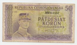 Czechoslovakia 50 Korun 1945 VF P 62 - Tschechoslowakei