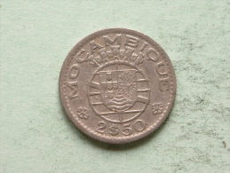 1954 - 2$50 / KM 78 ( Uncleaned - For Grade, Please See Photo ) ! - Mozambique