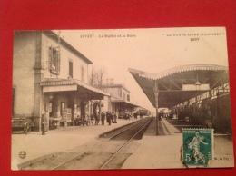 Cpa 43 ARVANT Buffet Et  Gare Train - Frankrijk