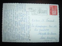 CP  POUR FRANCE TP 30 OBL.MEC. 3 IX 1962 BERN 1 + 75 JAHRE INTERNATIONALE SPRACHE ESPERANTO ZAMENHOF - Esperanto