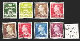 Danemark 418 à 425 ** Côte 6.45 € ( 423 : Oblitéré ) - Dänemark