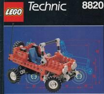 Lego 8820 Technic Voiture Plage Patrol Avec Plan 100 % Complet Voir Scan - Lego Technic