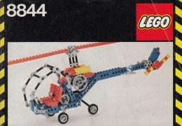 Lego 8844 Technic Hélicoptère Avec Plan 100 % Complet Voir Scan - Lego Technic