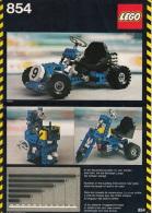 Lego 854 Technic Gocart Avec Plan 100 % Complet Voir Scan - Lego Technic