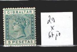 Gibraltar 29 * Côte 67.50 € - Gibilterra