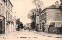 92 ROBINSON RUE DE MALABRY ANIMEE CIRCULEE 1915 - Le Plessis Robinson