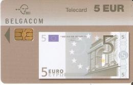 TARJETA DE BELGICA DE UN BILLETE DE 5 EUROS (BANKNOTE) 30/11/2005 - Sellos & Monedas
