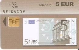 TARJETA DE BELGICA DE UN BILLETE DE 5 EUROS (BANKNOTE) 31/03/2005 - Sellos & Monedas