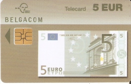 TARJETA DE BELGICA DE UN BILLETE DE 5 EUROS (BANKNOTE) 30/06/2005 - Sellos & Monedas