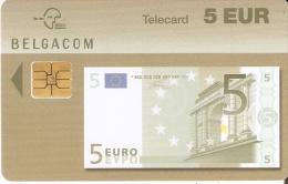 TARJETA DE BELGICA DE UN BILLETE DE 5 EUROS (BANKNOTE) 31/07/2005 - Sellos & Monedas