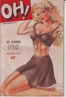 Revue Mensuelle OH N° 1 De 1948 Journal Humoristique Dessins Contes Potins - Humor