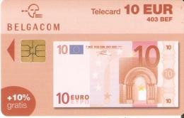 TARJETA DE BELGICA DE UN BILLETE DE 10 EUROS- 403 BEF (BANKNOTE) 31/12/2004 - Sellos & Monedas