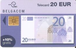 TARJETA DE BELGICA DE UN BILLETE DE 20 EUROS (BANKNOTE) 31/03/2005 - Sellos & Monedas