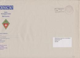 Suisse Vers 1994. Lettre Militaire Des Troupes Suisses Pour L'OSCE En Bosnie-Herzégovine, à Dertination De La Belgique - Suisse