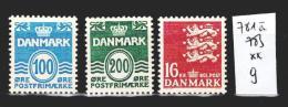 Danemark 781 à 783 **  Côte 9 € - Dänemark