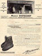 "SUPERBE  DEVANTURE COMMERCIALE)  MAURICEE DESTACAMP à MAULEON -ANIMEE -CHASSE PECHE ""PATAUGAS - Publicidad"